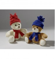 Bear with hat and scarf